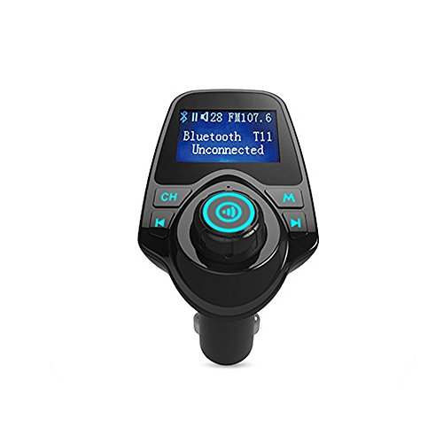 FM Transmitter, KFZ MP3Musik Player, Wireless Kfz Bluetooth Freisprecheinrichtung Talking Fahrzeug mit Dual USB 5V/2.1A USB-Ladegerät