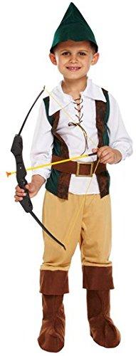 Jungen 4 Stück Robin Hood Held mittelalterlich Buch Tag Woche Verkleidung Kleid Kostüm Outfit 4-12 Jahre - Multi, 4-6 Years