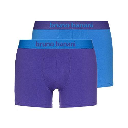 Bruno Banani Herren Short 2er Pack Flowing 2er Pack, Mehrfarbig (Blau// Violett 2305), Small