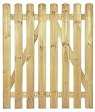StaketenTür 'Premium' 100x120/120 cm - gerade – kdi/V2A Edelstahl Schrauben verschraubt - aus getrocknetem Holz glatt gehobelt – gerade Ausführung - kesseldruckimprägniert