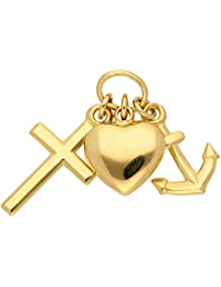 Gold 14 k ( 585 ) Motiv - Anhänger - Glaube - Liebe - Hoffnung - B. 7,7 mm - H. 11,8 mm