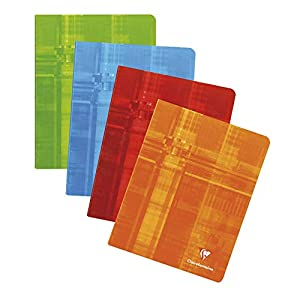 Clairefontaine 362C Staple bound Notebooks, 16.5 x 21 cm, Squared, 90 g, 36 Sheets - Assorted Colours, Pack of 20