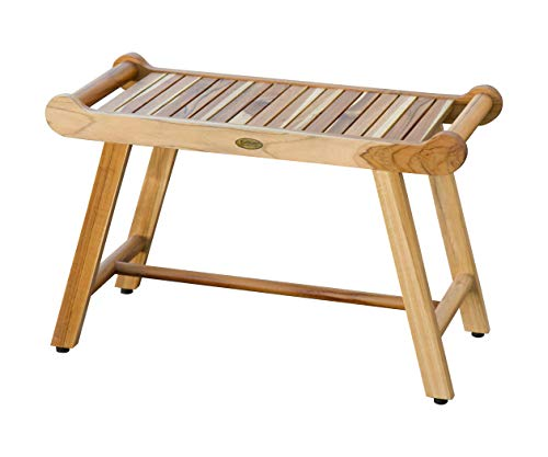 EcoDecors® SensiHarmony 30 in. Teak Shower Stool Bench with LiftAide Arms