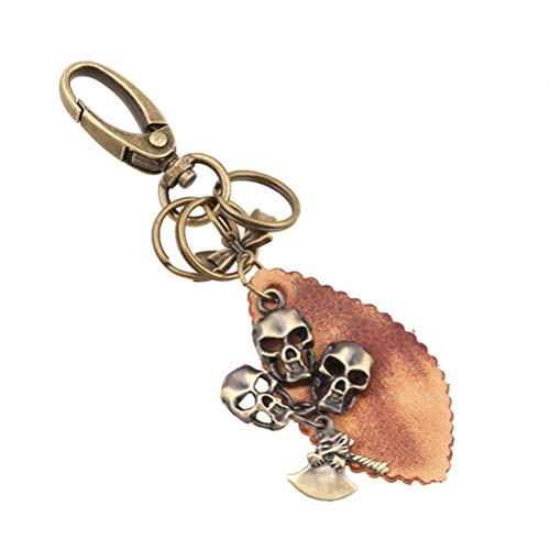 in Vintage Schlüsselanhänger Halloween Punk Car Purse Bag Anhänger Dekoration hängen Bronze Keychain Zubehör ()