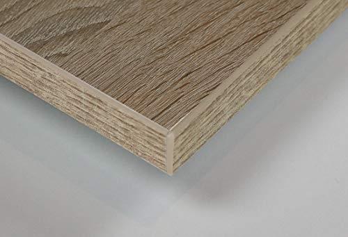 MySpiegel.de Tischplatte Holz Zuschnitt nach Maß Beschichtete Holzdekorplatte (120 x 70 cm, Sonoma Eiche)