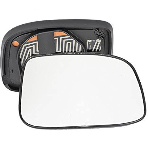 For Isuzu Rodeo Denver 2006-2009 driver right hand side Heated wing door silver mirror glass with backing plate