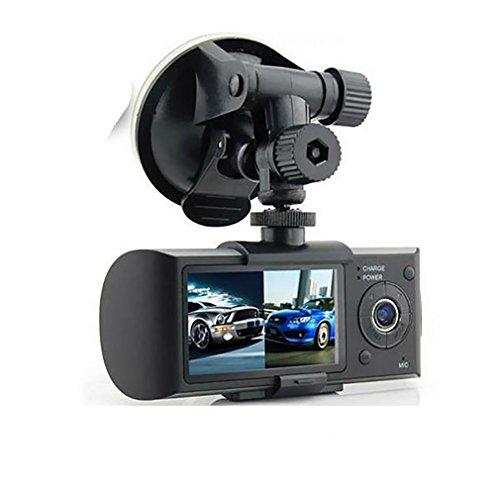 WJJ- 1080P FHD + HDR vordere und hintere Weitwinkel-Doppelobjektiv im Auto-Armaturenbrett-Kamera DVR Videogerät mit G-Sensor, Parken-Modus u. Super Nachtsicht