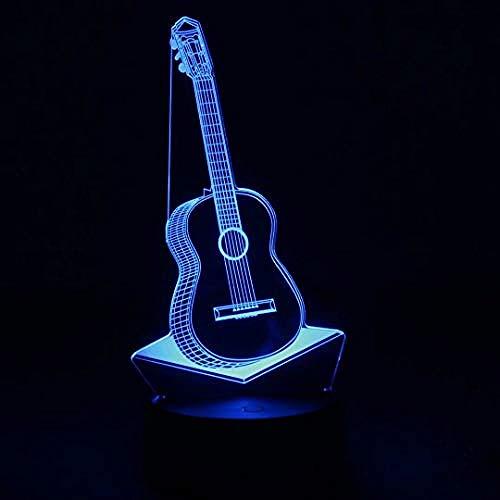 Automatische Line Controller (Led Nachtlicht Usb - 7 Farbwechsel Licht Mit Fernbedienung - Gitarrenform Gestaltungsmöglichkeiten Einhorn Batterie Und Line @Gitarre)