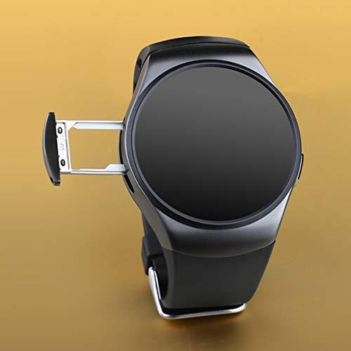 Dorado/Negro / Blanco Control Remoto Tomar fotografía 240 * 240 píxeles Bluetooth Smart Watch Teléfono King-Wear KW18 Reloj Inteligente con frecuencia cardíaca Sim y TF (Negro)