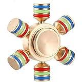Premsons Fidget Spinner Metal Hand Spinner Ferris Wheel Ultra Speed Tri-Spinner Toy - Metallic Gold
