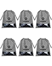 Vouch Travel Shoe Cover String, Multipurpose cover, Combo of 6 Pcs, Plain Grey