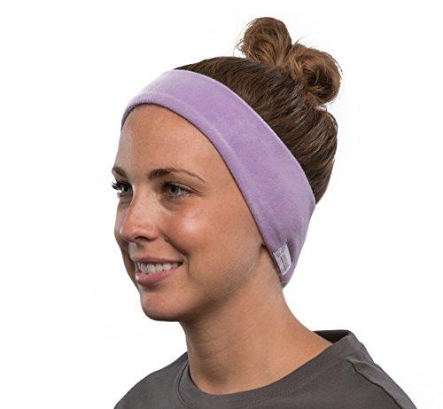 AcousticSheep SleepPhones Kabellos Bluetooth Stirnband-Schlaf-Kopfhörer - Vlies, Lavendel, groß