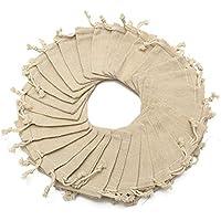 Mayitr De Lino Yute Bolsa Natural Bolsa de Joyas con cordón Bag para Fiesta de Boda y oficios de artesanía
