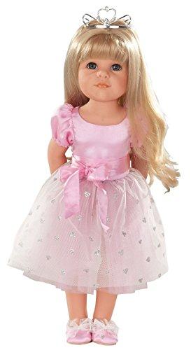 Götz 1359072 Hannah als Prinzessin Puppe - Princess - 50 cm große Stehpuppe mit blonden langen Haaren und blauen Augen - 11-teiliges Set mit DVD (Baby-puppe Prinzessin T-shirt)