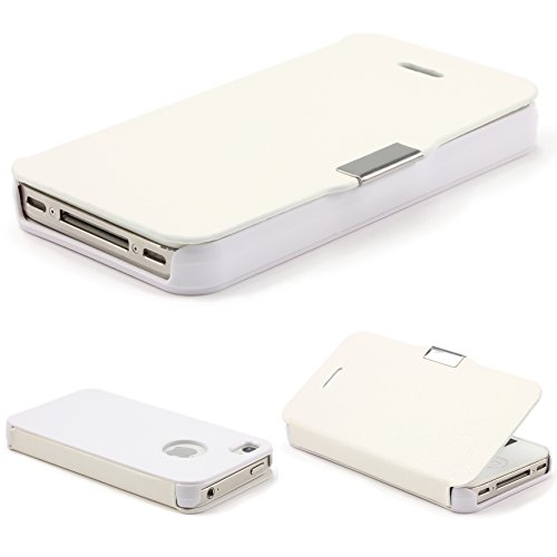 Original UrCover® Wallet Handyhülle für das Apple iPhone 4/4sSchutz Hülle Cover Case Tasche Flip Pink Weiß
