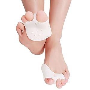 Goodsmiley Gel-Fußkissen / Zehenspreizer, zur Korrektur von Ballenzehen, für Frauen und Männer