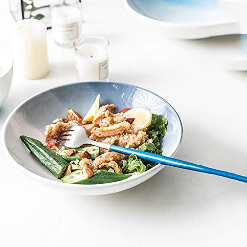 CJW Bol à soupe Nordic Creative Western - Vaisselle de la série Alpine (Color : Gray, Taille : 18.5cm)