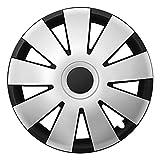 CM DESIGN NEFRYT Schwarz Silber - 15 Zoll, passend für Fast alle Opel z.B. für Meriva A