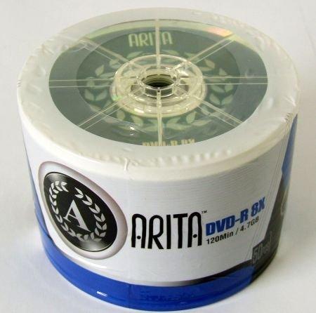 Arita Marke RITEK 8x Speed 4,7 GB DVD-R (50 Stück) (Digital-movie-speicherung)