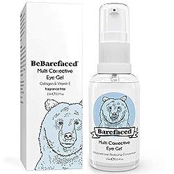 BeBarefaced 3 in 1 Augencreme Augenringe - mit Marine Collagen, Arganöl & Vitamin E