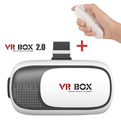 Mobiron Universal Vr Box Virtual Reality Glasses, 3D Vr Headset and  Wireless Vr Remote Control Bluetooth Mini Remote Controller, Controller