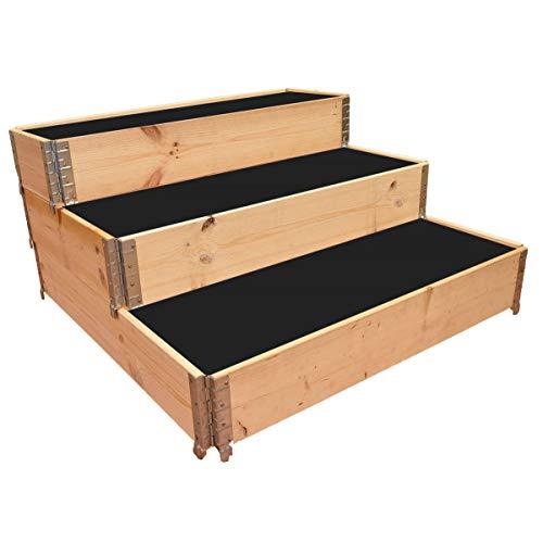 Multitanks - Carré potager en bois naturel en escalier 1200 x 1200mm