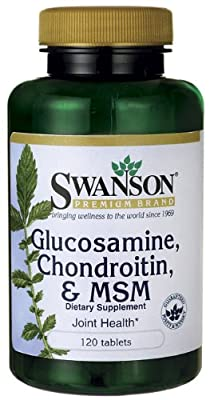 Swanson Glucosamine, Chondroitin & MSM (250mg/200mg/150mg, 120 Tablets) from Swanson Health Products
