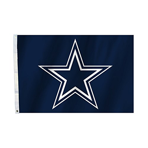 Fremont Die NFL Dallas Cowboys Unisex Dallas Cowboys 2 FT. X 3 ft. Flag W/Grommetts, Marineblau, One Size