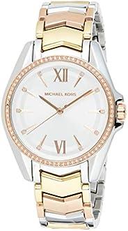 ساعة ويتني بمينا باللون الابيض وسوار ستانلس ستيل وعرض انالوج للنساء من مايكل كورس - MK6686