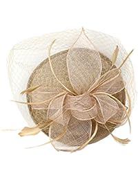 Baoblaze Damen Fascinator Haarreif mit Federn Blumen Haarschmuck Kopfbedeckung Cocktail Tea Party Headwear