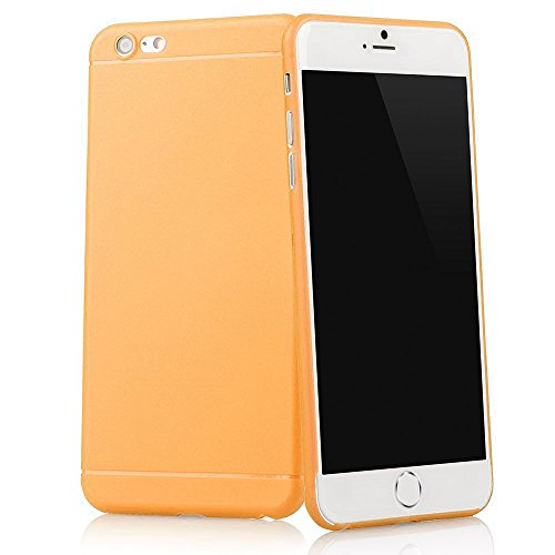Original TheSmartGuard iPhone 6S-6 Hülle Case Schutzhülle (4,7 Zoll) - Ultra-Slim / Ultra-dünn - NEU mit integriertem Schutz für die Kamera-Linse - Farbe schwarz transparent Orange