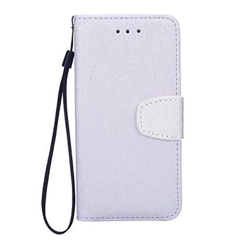 iPhone 6 Plus Coque Portefeuille Pu,iPhone 6S Plus Étui en Cuir Flip avec Folio Magnétique,Ultra Slim Leather Wallet Case Flex Soft Cuir à Rabat Téléphone Housse Etui de Protection Mode Créatif Désign blanc