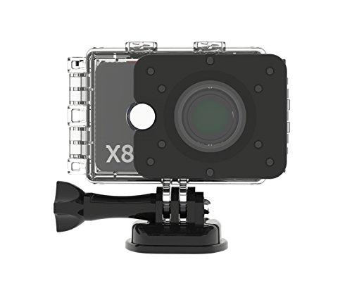 Actionpro 200004 X 8 Sport- und Actionkamera (12 Megapixel, 2 Zoll, LCD) Silber/Schwarz