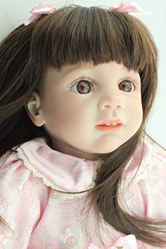 Unexceptionable-Dolls 60cm echte wiedergeborene Silikon Mädchen Puppe Spielzeug Puppen Spielzeug 24 Zoll Vinyl Neugeborene Prinzessin Kinder GeburtstagsgeschenkeSpielhaus Boneca - 24-zoll-vinyl-sitz