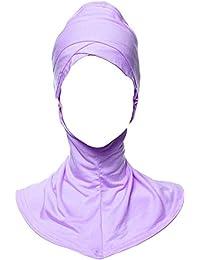 Auspicious beginning Bajo musulmán modal cuello bufanda Cap Hijab islámico Cubierta de la cabeza del casquillo de desgaste