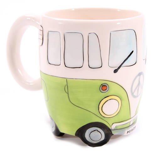 Mug Forme Motif Camping Car Volkswagen Vert