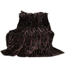 Manta de pelo, de alta calidad de la manta, de techo, manta, manta, diseño de cuadros, manta de piel sintética, diseño de cuadros, poliéster, marrón, 150 x 200 cm