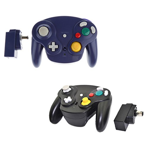 Segolike 2Pieces Wireless Game Gamepad Controller Receiver Adapter for Nintendo GameCube/Wii/Wii U GC NGC