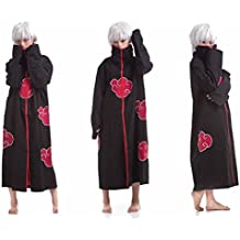 SMITHROAD Costume Cosplay Manteau Cape Veste Anime japonais Uniforme Ninja Shinobi Déguisement Halloween