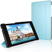 JETech Gold Nexus 7 Slim-Fit Smart Case Cover funda carcasa con incorporado de atri y doble protección para Google Nexus 7 2013 Tablet (Azul) - 0531