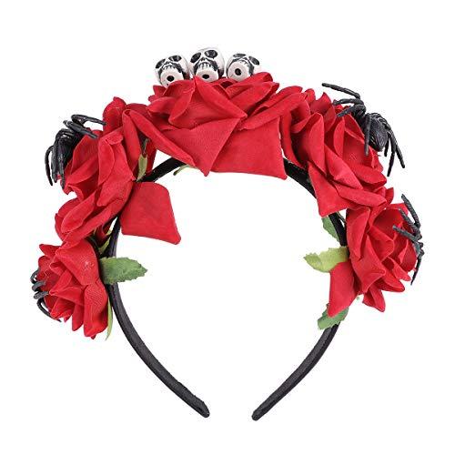 Geist Holloween Kostüm - Amos Fun Halloween Rose Stirnband Spinne Haarband Hexe Haarschmuck für Mädchen
