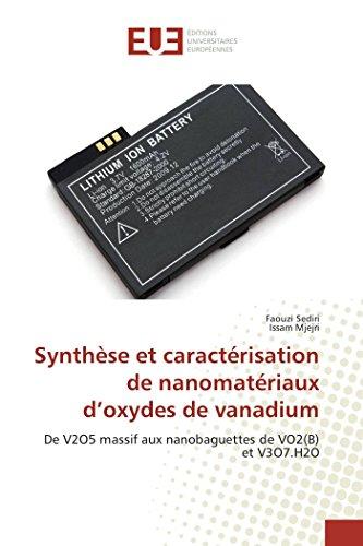 Synthèse et caractérisation de nanomatériaux d oxydes de vanadium par Collectif