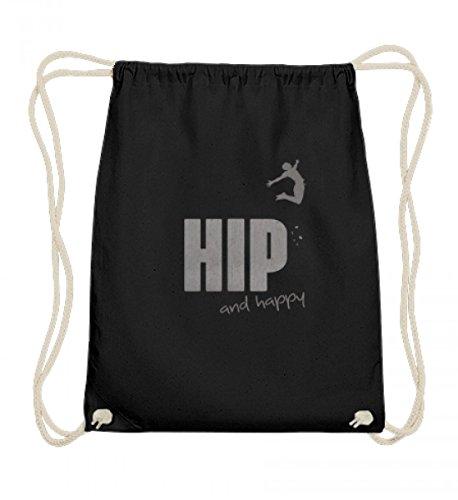 Shirtee Hochwertige Baumwoll Gymsac - Hip and Happy (Happy Hips)