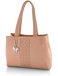 Butterflies Women's Handbag (Peach) (BNS 0586PCH)