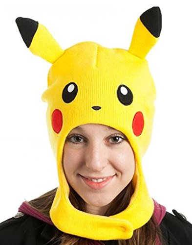 Pokemon Unisex Pikachu Beanie, Gelb, One (Nintendo Game Boy Kostüm)