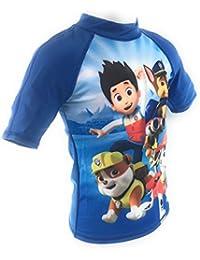 Camiseta de Baño, traje de baño, Swim camiseta, protección UV30+ Pat patrulla, Paw Patrol, nickélodéon,, Niño, azul, 98 cm
