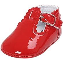 3132ed2b5b4 Logobeing Bebe Niñas Zapatos de Vestir Antideslizante Suela Blanda Primeros  Pasos para Recién ...
