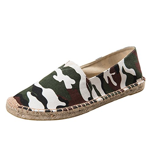 Dooxii Unisex Uomo Donna Durevole Casuale Loafers Scarpe Moda Tinta Unita Espadrillas Basse Scarpe Slip On Flats 40(25cm)