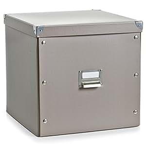 aufbewahrungsbox pappe xl taupe 17664 aufbewahrungskiste k che haushalt. Black Bedroom Furniture Sets. Home Design Ideas