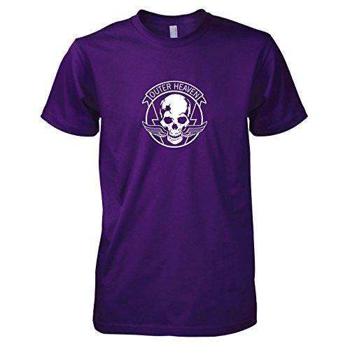 (TEXLAB - MGS Outer Heaven - Herren T-Shirt, Größe XXL, violett)